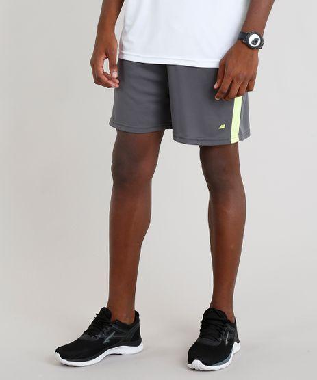 Short-Masculino-Esportivo-de-Futebol-com-Faixas-Laterais-Chumbo-9295179-Chumbo_1