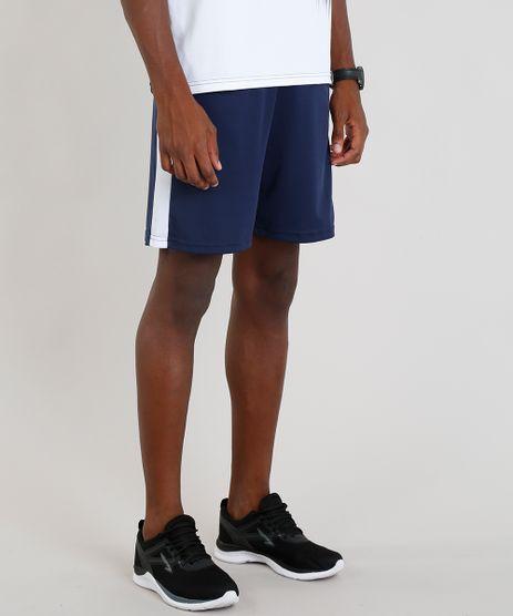 Short-Masculino-Esportivo-de-Futebol-com-Faixas-Laterais-Azul-Marinho-9295179-Azul_Marinho_1