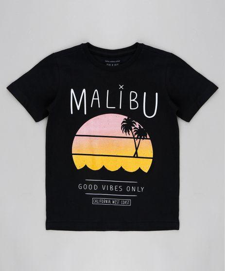 Camiseta-Infantil--Malibu--Manga-Curta-Gola-Careca-Preta-9316362-Preto_1