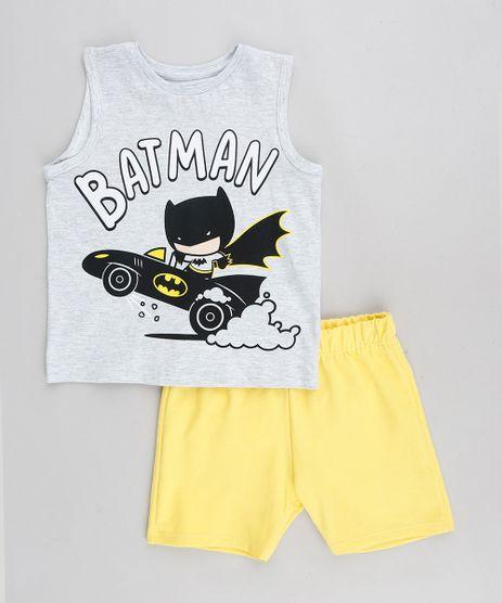 Conjunto-Infantil-Batman-de-Regata-Cinza-Mescla-Claro---Bermuda-em-Moletom-Amarela-9327859-Amarelo_1