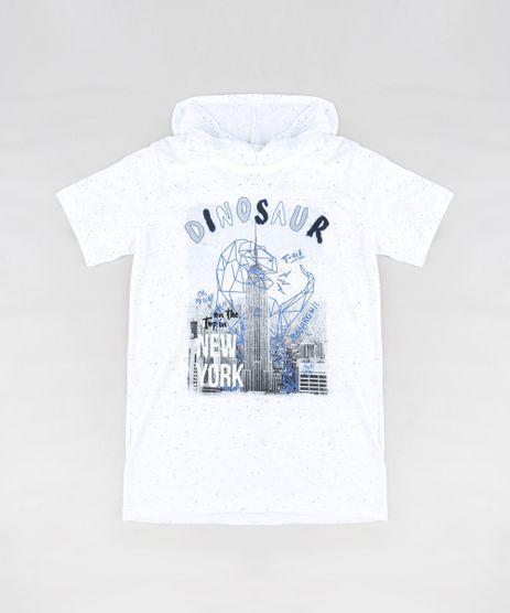 Camiseta-Infantil--Dinosaur--com-Capuz-Manga-Curta-Off-White-9310740-Off_White_1