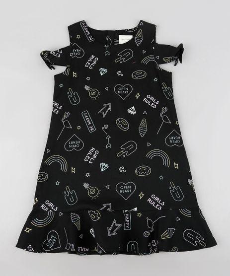 Vestido-Infantil-Open-Shoulder-Estampado-com-Babados-Preto-9207231-Preto_1