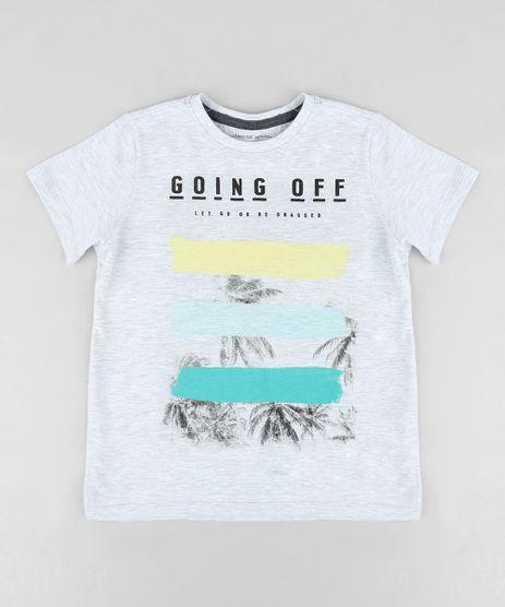 Camiseta-Infantil--Going-Off--Manga-Curta-Gola-Careca-Cinza-Mescla-Claro-9316376-Cinza_Mescla_Claro_1