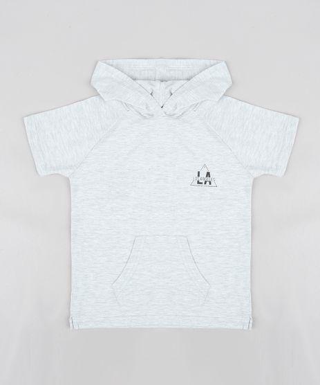 Camiseta-Infantil--Los-Angeles--com-Capuz-e-Bolso-Manga-Curta-Cinza-Mescla-Claro-9233995-Cinza_Mescla_Claro_1
