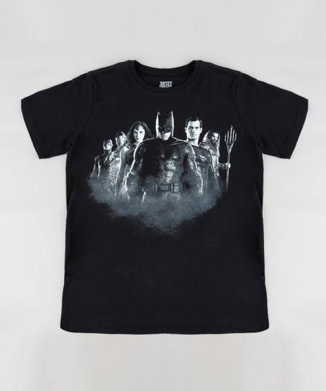 Camiseta-Infantil-Liga-da-Justica-Manga-Curta-Gola-Careca-Preta-9316414-Preto_1