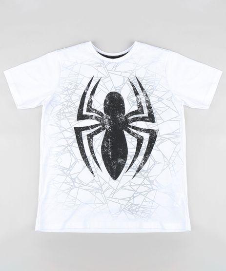 Camiseta-Infantil-Homem-Aranha-Manga-Curta-Gola-Careca- 48fd35d9457