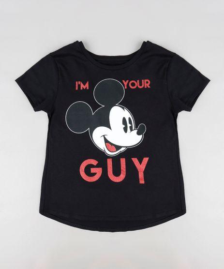 Blusa-Infantil-Mickey--I-m-Your-Guy--Manga-Curta-Decote-Redondo-Preta-9300988-Preto_1