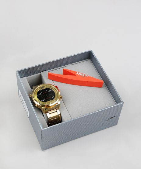 Kit-de-Relogio-Digital-Speedo-Masculino---Pen-Drive---15005GPEVDS1K-Dourado-9376957-Dourado_1