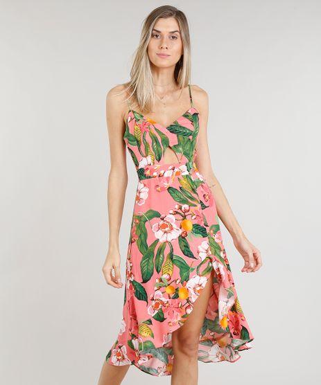 Vestido-Feminino-Midi-Estampado-Floral-com-Babado-Coral-9191303-Coral_1