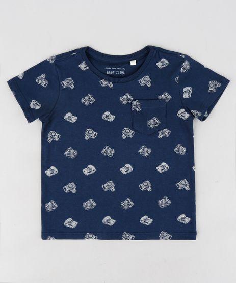 Camiseta-Infantil-Estampada-de-Cameras-Manga-Curta-Gola-Careca-Azul-Marinho-9302081-Azul_Marinho_1