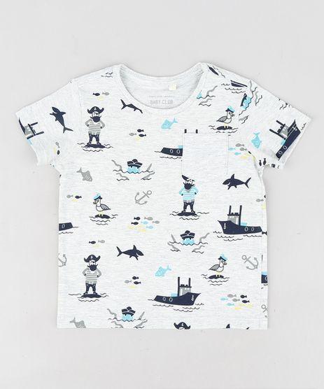 Camiseta-Infantil-Estampada-de-Piratas-Manga-Curta-Gola-Careca-Cinza-Mescla-Claro-9302078-Cinza_Mescla_Claro_1