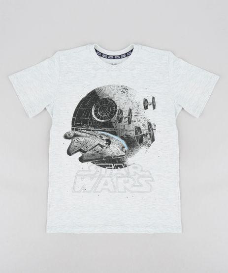 Camiseta-Infantil-Star-Wars-Manga-Curta-Gola-Careca-Cinza-Mescla-Claro-9300745-Cinza_Mescla_Claro_1