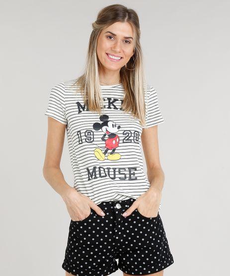 Blusa-Feminina-Mickey-Mouse-Listrada-Manga-Curta-Decote-Redondo-Off-White-9318015-Off_White_1
