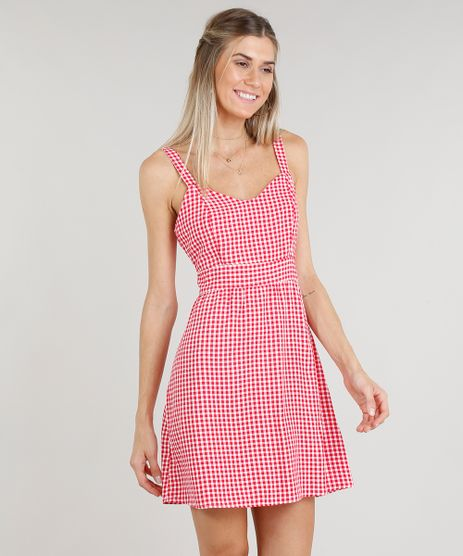 Vestido-Feminino-Curto-Estampado-Xadrez--Vermelho-9299248-Vermelho_1