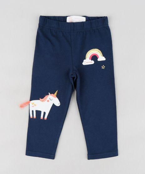 Calca-Legging-Infantil-com-Unicornio-e-Arco-Iris-Azul-Marinho-9121665-Azul_Marinho_1