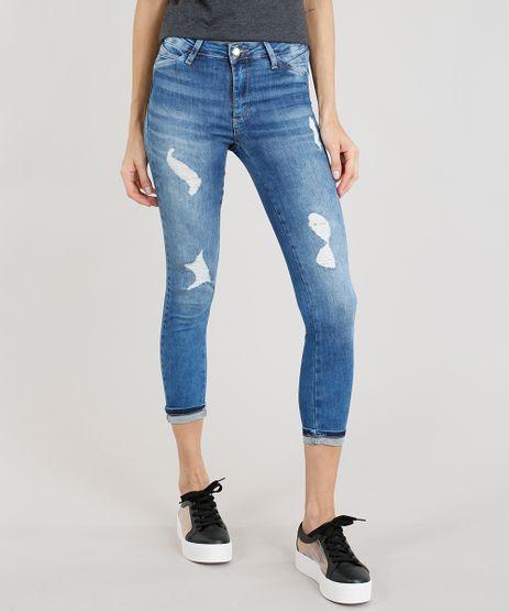 Calca-Jeans-Feminina-Cropped-Sawary-Destroyed-Azul-Medio-9329156-Azul_Medio_1
