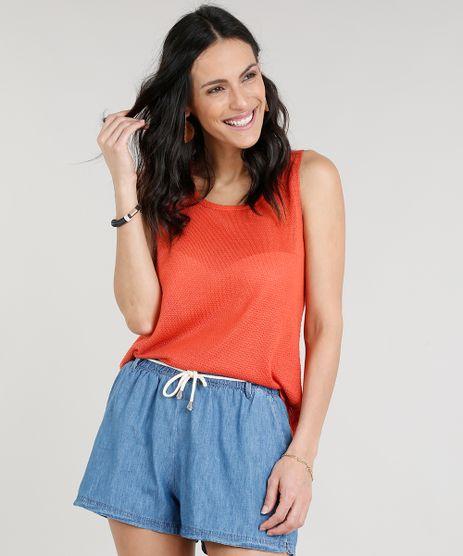 Regata-Feminina-em-Trico-Decote-Redondo-Laranja-9306839-Laranja_1