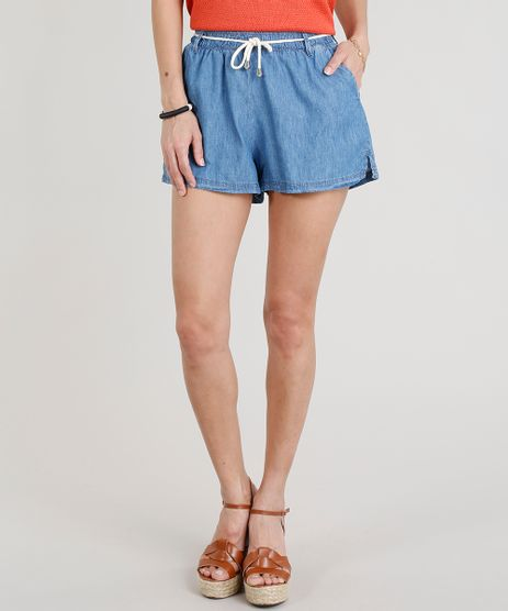 Short-Jeans-Feminino-com-Cordao-Azul-Medio-9269744-Azul_Medio_1