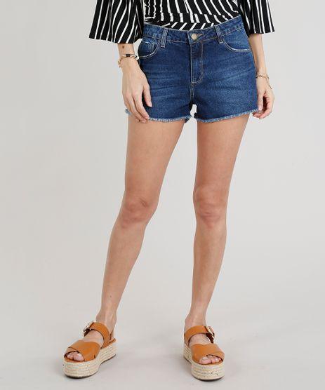 Short-Jeans-Feminino-Boyfriend-Barra-Desfiada-Azul-Escuro-9340515-Azul_Escuro_1