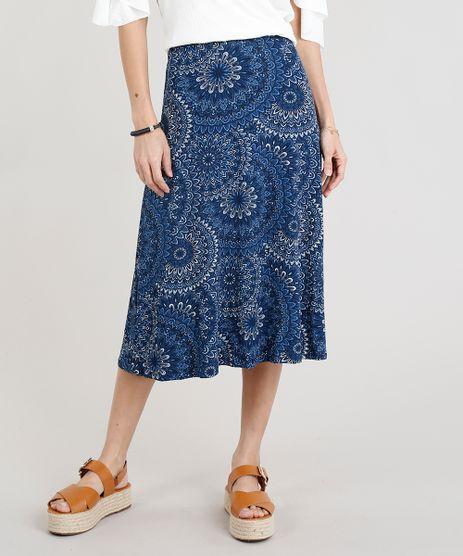 Saia-Midi-Feminina-Canelada-Estampada-de-Mandala-Azul-Marinho-9293820-Azul_Marinho_1