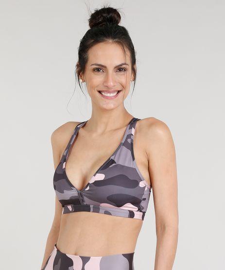 Top-Feminino-Esportivo-Ace-Nadador-Estampado-Camuflado-com-Bojo-Removivel-e-Protecao-UV50--Chumbo-9296853-Chumbo_1