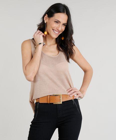 Regata-Feminina-em-Trico-Decote-Redondo-Kaki-9306839-Kaki_1