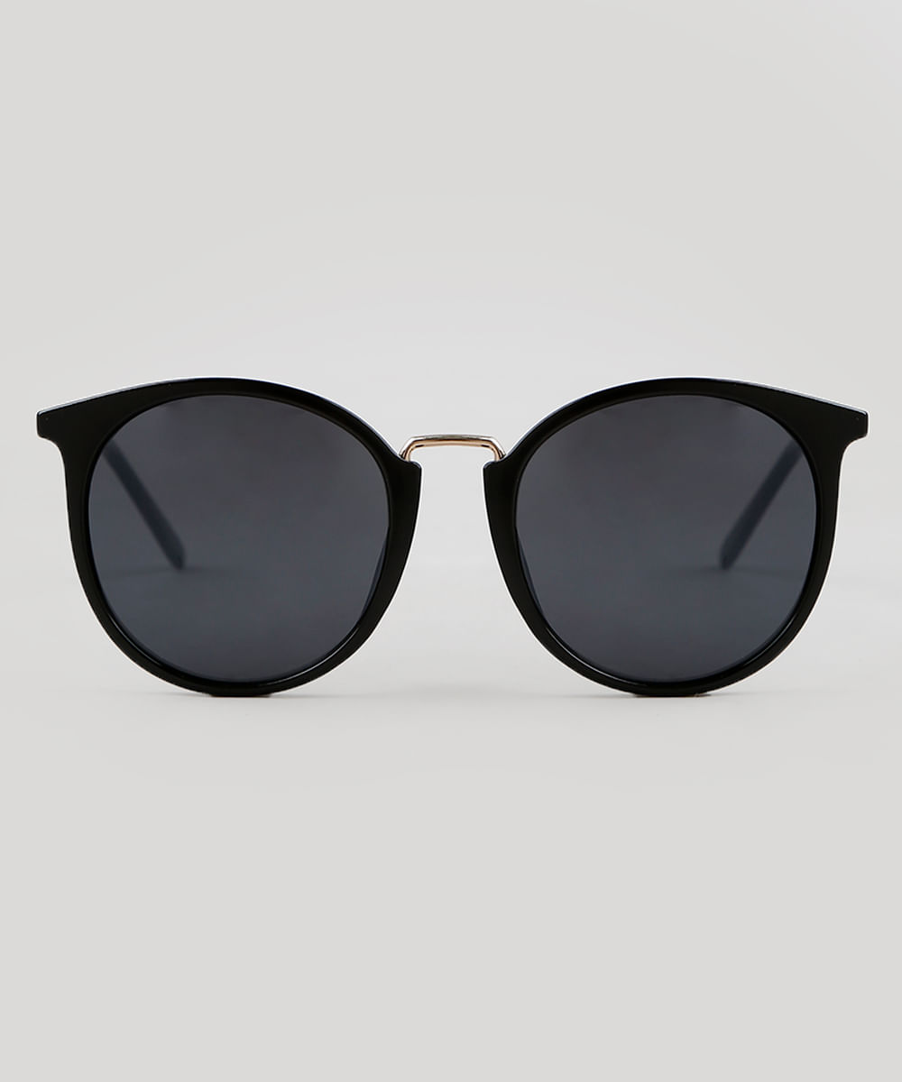 e2233ba0c ... Oculos-de-Sol-Redondo-Feminino-Oneself-Preto-9351270-