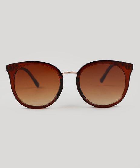 Oculos-de-Sol-Redondo-Feminino-Oneself-Marrom-9351238-Marrom_1