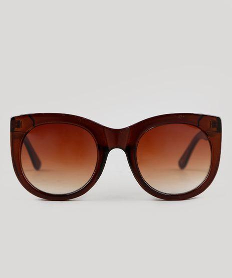 Oculos-de-Sol-Redondo-Feminino-Oneself-Marrom-9351216-Marrom_1