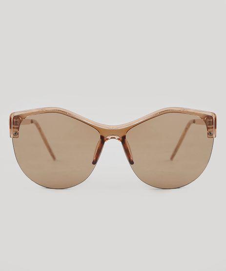 Oculos-de-Sol-Redondo-Feminino-Oneself-Marrom-9351267-Marrom_1