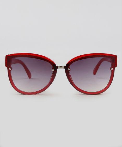efba6313001b2 Oculos-de-Sol-Redondo-Feminino-Oneself-Vermelho-9351194- ...