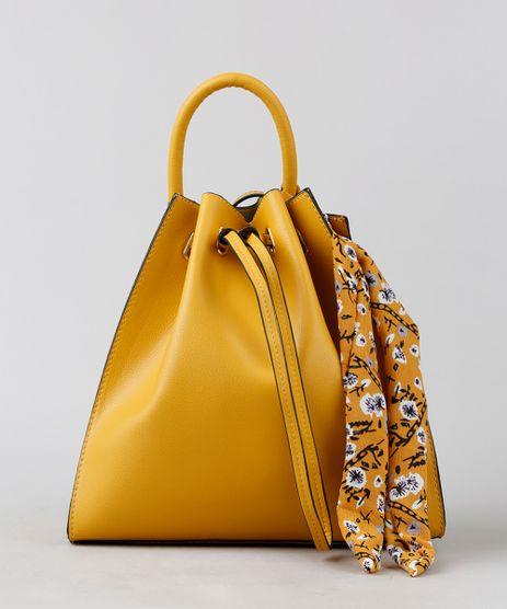 Bolsa-Saco-Feminina-Transversal-com-Lenco-Amarela-9255539-Amarelo_1