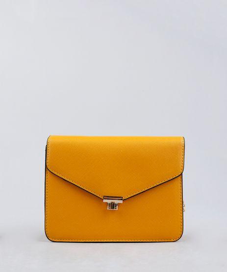 Bolsa-Feminina-Transversal-com-Corrente-Amarela-9227656-Amarelo_1
