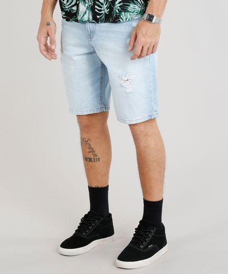 Bermuda-Jeans-Masculina-Reta-Destroyed--Azul-Claro-9309294-Azul_Claro_1