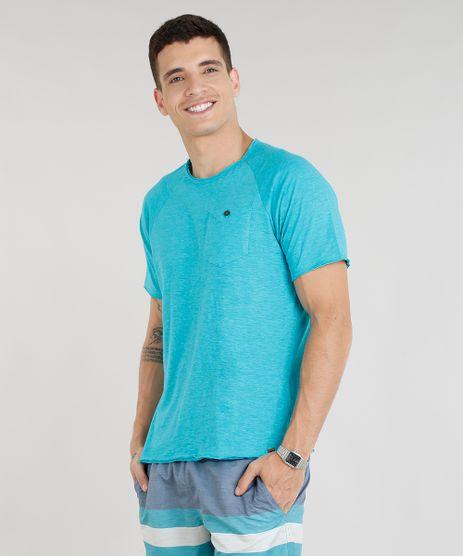Camiseta-Masculina-com-Bolso-Manga-Curta-Gola-Careca-Verde-Agua-9268943-Verde_Agua_1