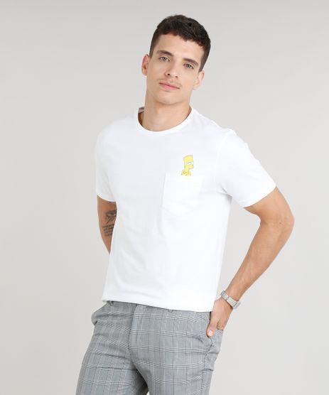 Camiseta-Masculina-Bart-Simpson-com-Bolso-Manga-Curta-Gola-Careca-Off-White-8816187-Off_White_1
