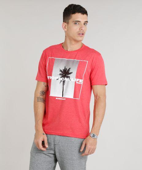 Camiseta-Masculina--Tropical-Life--Manga-Curta-Gola-Careca-Vermelha-9297330-Vermelho_1
