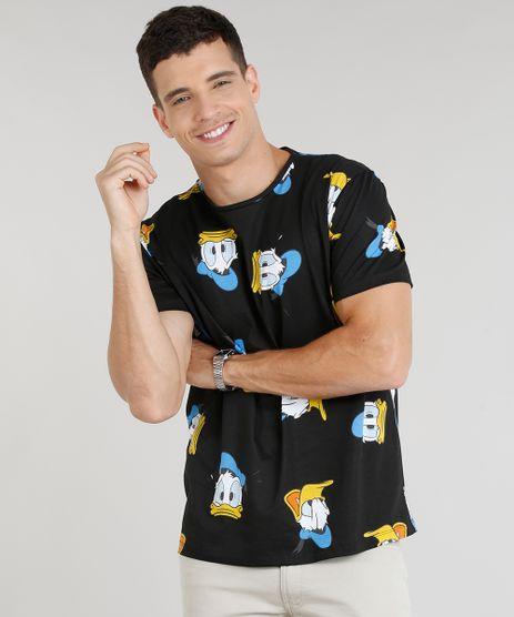 Camiseta-Masculina-Estampada-Pato-Donald-Manga-Curta-Gola-Careca-Preta-9306837-Preto_1