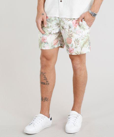 Short-Masculino-Estampado-Floral-com-Cordao-Verde-Claro-9305453-Verde_Claro_1