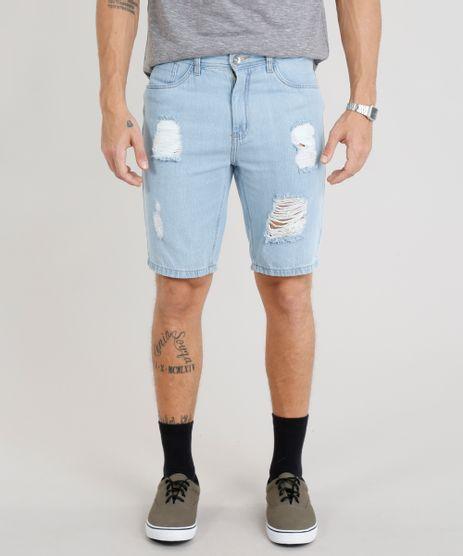 Bermuda-Jeans-Masculina-Slim-Destroyed--Azul-Claro-9335201-Azul_Claro_1