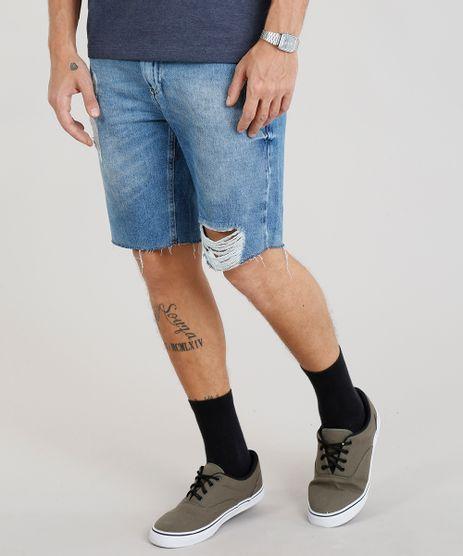 Bermuda-Jeans-Masculina-Slim-Destroyed--Azul-Claro-9335203-Azul_Claro_1
