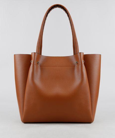 Bolsa-Feminina-Shopper-com-Piercings-Caramelo-9108100-Caramelo_1