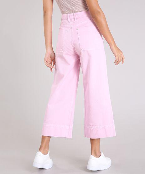 Calca-Jeans-Feminina-Pantacourt-Cintura-Alta-Rosa-9264227-Rosa_2