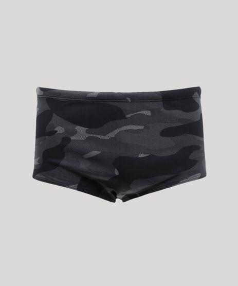 Sunga-Masculina-Estampada-Camuflada-com-Protecao-UV50--Preta-9285000-Preto_1
