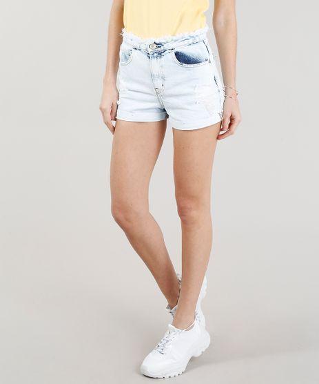 Short-Jeans-Feminino-Vintage-Destroyed-com-Cos-Desfiado-Azul-Claro-9346418-Azul_Claro_1
