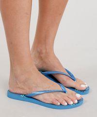 4ae8984c23 Chinelo Feminino Havaianas com Estampa Floral Azul - ceacollections