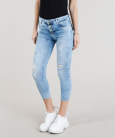 Calca-Jeans-Feminina-Cropped-Sawary-Destroyed-Azul-Claro-9368332-Azul_Claro_1