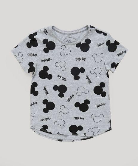 Blusa-Infantil-Estampada-Mickey-Manga-Curta-Decote-Redondo-Cinza-Mescla-9300989-Cinza_Mescla_1