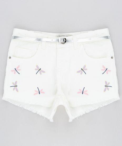 Short-Color-Infantil-com-Bordado-de-Libelula-e-Barra-Desfiada-com-Cinto-Metalizado-Off-White-9288479-Off_White_1