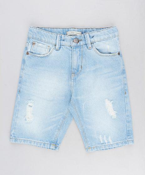 Bermuda-Jeans-Infantil-Destroyed-Azul-Claro-9329293-Azul_Claro_1